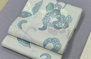 螺鈿を織り込んだ袋帯
