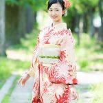 成人の日 本日のお客様の振袖姿 羽織袴 3