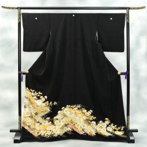 京友禅競技大会受賞黒留袖