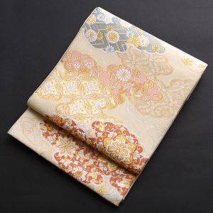 雲取り柄の西陣織袋帯
