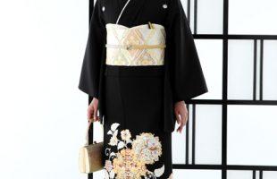 京友禅競技大会受賞柄黒留袖