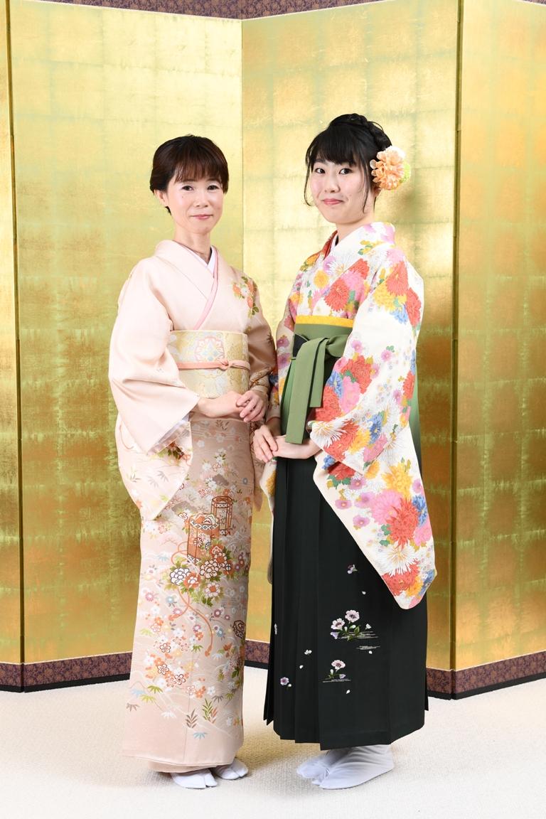 卒業式袴姿