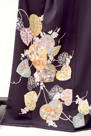 本加賀友禅の色留袖