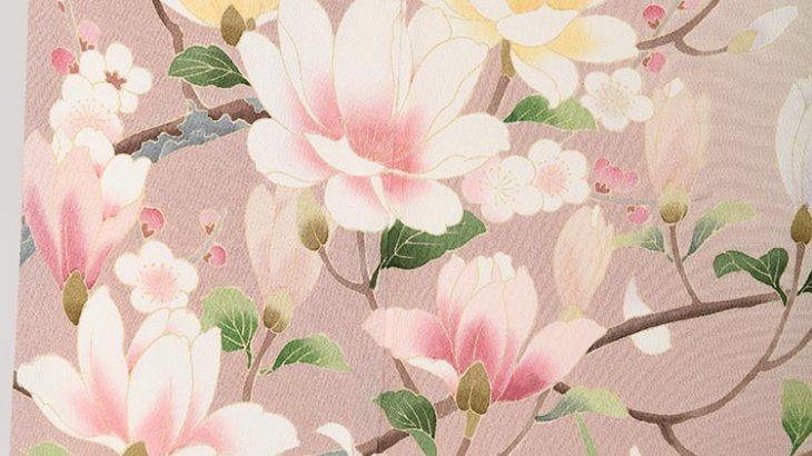 訪問着「h-84ピンク系に四季の花」 卒入園式のお母様へ