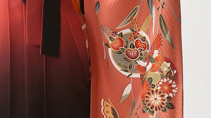 お客様レビュー 「袴レンタル 2-89 朱赤 古典絵羽柄」